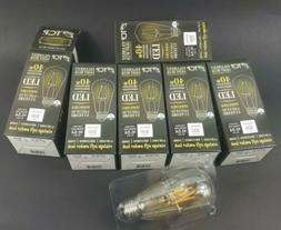 TCP Led Vintage 40 Watt, St19,6 Pack Amber  Dimmable Light B