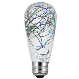 SUNLITE LED Vintage Multi-Color ST64  1.5w Light Bulb Decora
