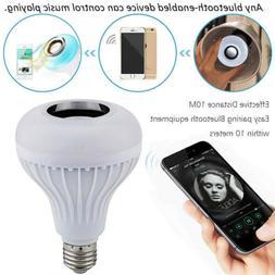 LED Wireless Bluetooth Bulb Light Speaker 12W RGB Smart Musi