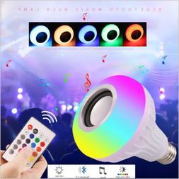 led wireless bluetooth bulb light speaker 12w