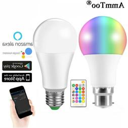 LED Wireless WIFI Smart Bulb Light Dimmable Lamp For Amazon