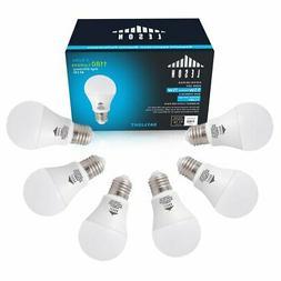 LESON LED Light Bulbs E26 A19 110V 75W Equivalent 1180lm 9W