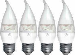 GE Lighting 37607 4 Watt LED Soft White Chandelier Bulb w/Me