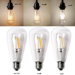 LOT-10 Vintage Retro Edison E27 2W 6W 8W Screw LED Filament