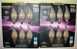 Lot 12 FEIT LED Dimmable Flame Tip 40w BULBS 300 Lumens CAND