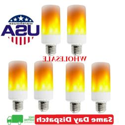 LED Flame Light Bulb Simulated Burn Fire Effect Party Decor