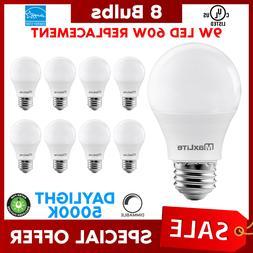 Lot Of 20 Maxlite 9w LED Bulb 60 watt replace A19 Daylight 5
