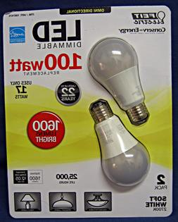 Lot of 4 Feit Electric LED 100W, 1600 Lumens, Omni Direction