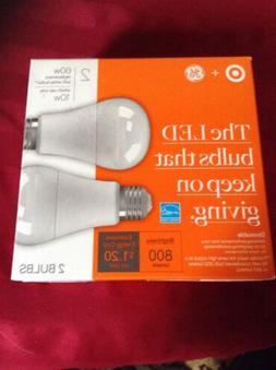 Lot of 40 GE LED bulbs 60 watt replacement Uses Only 10 watt