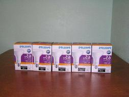Lot of 5 PHILIPS 9W LED BR30 Flood  Soft White Dimmable Bulb