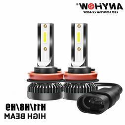 Mini H11 LED Headlight Kit H9 H8 1200W 280000LM High Low Bea
