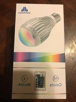 Multi-Color Changing Light Bulb 60W LED E27 Warmoon 16 Color