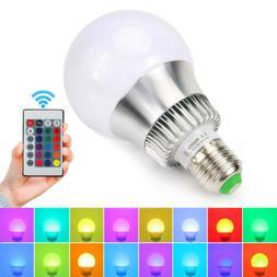 Multi Color Changing Magic Lamp 10W E27 E26 RGB LED Bulb Lig