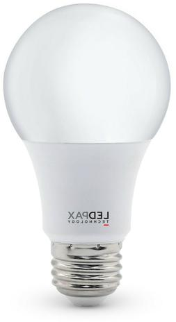 NEW 8-pack LEDPAX A19 Non Dimmable LED Bulb, 9W , White
