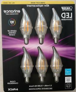NEW Feit Electric LED Dimmable Clear Chandelier E12 Bulbs 3.