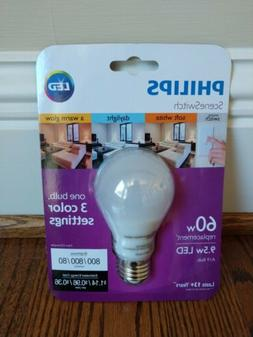 NEW Philips LED Scene Switch 60W Equiv. One light Bulb 3 Col