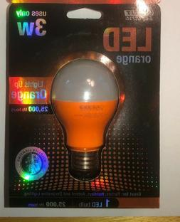 orange led light bulb 3 watt a19