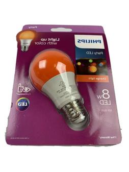 Philips Orange Light Bulb LED 8 W Porch  Party Halloween Pat