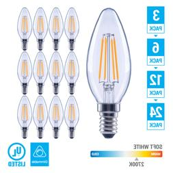 Pack LED 4.5W 60W Chandelier Dimmable Filament B11 Clear E12