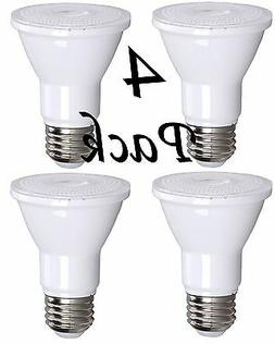 4 Pack Bioluz LED PAR20 7w  3000k 550 Lumen Dimmable Lamp -