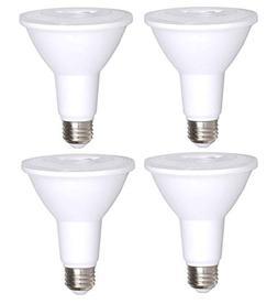 4 Pack Bioluz LED PAR30 LED Bulb, 12w Dimmable Flood Light B
