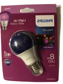 Philips 60-Watt Equivalent A19 Dimmable Purple LED Light Bul