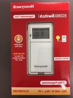 Honeywell PLS730B1003 EconoSwitch, White Programmable Timer