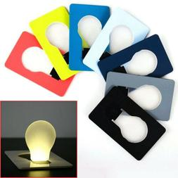 Portable Credit Card Size LED Light Lamp Bulb Healthy Night