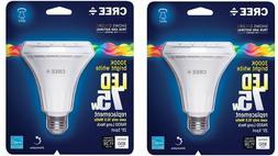 QTY 2 LED Dimmable Light Bulb 3000K Cree PAR30 White 75W Bri