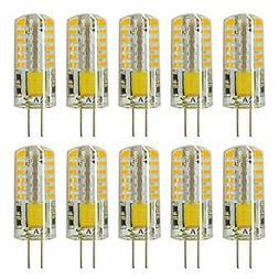 Rayhoo 10pcs Set G4 base 48-LED Light Crystal Bulb Lamps 3 W