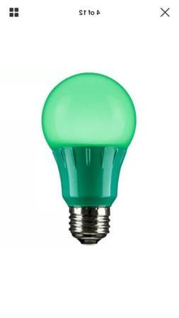 Sunlite LED Red, Green A19 3W E26 Base Light Bulbs