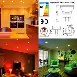Red Green Blue Yellow 12V GU4 MR11 LED Low Voltage Light Bul
