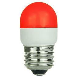 SUNLITE Red LED 0.5w Tubular T10 Medium Screw In Base Light