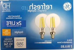2 Pack G E Lighting 28280 5W LED G16 Bulb