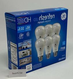 GE LED Light Bulb A19 HD Daylight Refresh 10.5-watt 5000K En
