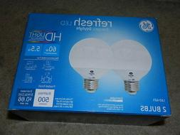 GE Refresh LED Dimmable 5.5W Replace 60W Bulb G25 Energetic