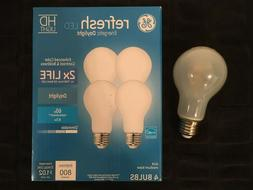 GE Refresh LED HD DAYLIGHT Dimmable Bulbs 4-Pack  800 Lumens