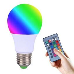 RGB 16Colors Changing 9W magic LED Lamp Light Bulb + IR Remo