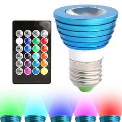 HitLights RGB Multicolor LED Bulb, 3 Watt MR16/E26 - Include
