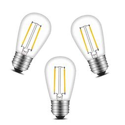 BRTLX S14 LED Edison Filament Bulb 2W Warm White 2700K 11W I