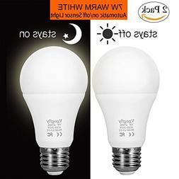 Sensor Lights Bulb Dusk to Dawn LED Light Bulbs Smart Lighti