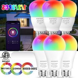 1-3 Pcs Smart LED Light Bulb 12W E27 Multi-Color Dimmable Fo