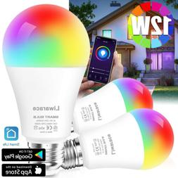 Smart LED Light Bulb 12W E26 Multi-Color Dimmable For Alexa/