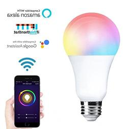 FRANKEVER Smart LED Light Bulb E26 A21 Dimmable Multicolor L