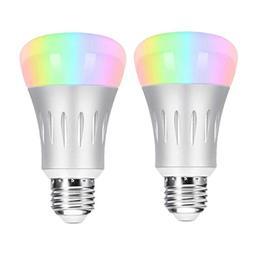 Smart WiFi Light Bulb,Hompie 7W E27 RGB & White LED Bulbs 60