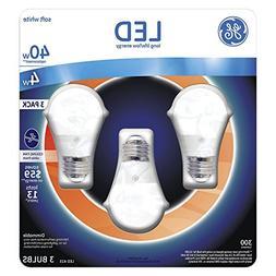 GE 4 Watt LED Soft White A15 Ceiling Fan Light Bulb, 3 Count