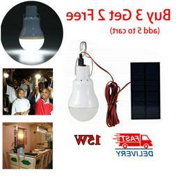 solar panel powered led lights bulb light