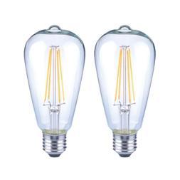 EcoSmart ST19 Antique Edison Dimmable Filament Vintage LED B
