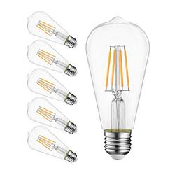 LVWIT ST21 LED Filament Bulb 8W Dimmable 3000K Soft White Vi