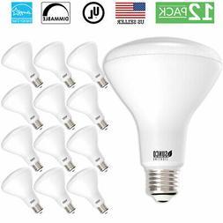 Sunco 24pk BR30 Dimmable LED Flood Light Bulb 11W 65W 6000K,